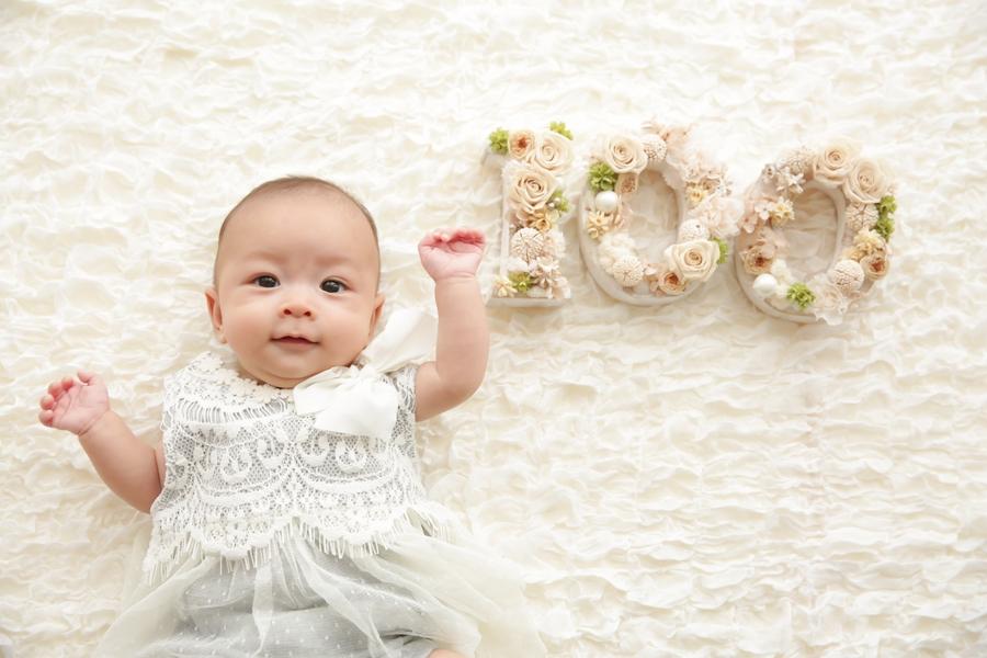 100日,ベビーフォト,赤ちゃん撮影,チルフォトグラフィー